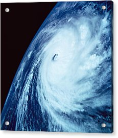 Eye Of A Storm Over Earth Viewed From Space Acrylic Print by Stockbyte