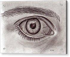 Eye Acrylic Print by Pat Moore