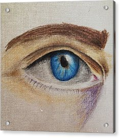 Eye Sketch #picfx #canvas #sketch Acrylic Print