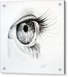 Acrylic Print featuring the drawing Eye Study by Eleonora Perlic