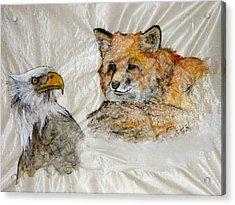Eye To Eye They See Each Other Acrylic Print