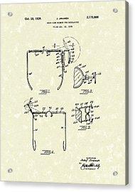 Eyeglass Mirror 1939 Patent Art Acrylic Print