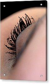 Eyelashes Acrylic Print by JL Creative  Captures