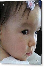 Eyes Of Innocence Acrylic Print by Valia Bradshaw
