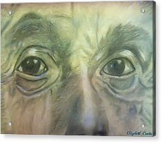 Acrylic Print featuring the drawing Eyes Of The Brain by Elizabeth Coats