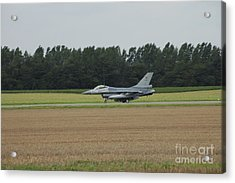 F-16 Of The Belgian Air Force Ready Acrylic Print by Luc De Jaeger
