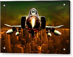 F-4 Acrylic Print by Michael Cleere