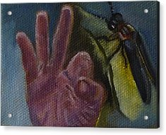 F Is For Firefly Acrylic Print by Jessmyne Stephenson