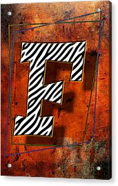 F Acrylic Print