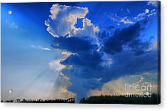 Face In The Cloud Acrylic Print by Nancie DeMellia