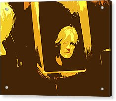 Face In The Mirror Acrylic Print by Anne Mott