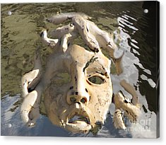Face In Woter Acrylic Print