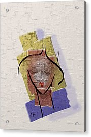 Face Of My Body Acrylic Print by Hayrettin Karaerkek