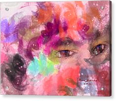 Face Acrylic Print by Terri Johnson