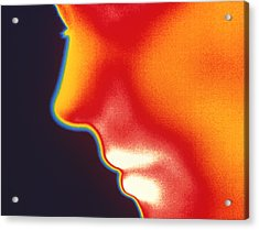 Face Thermogram Acrylic Print by Tony Mcconnell