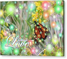 Facebook Love Acrylic Print by Laurence Oliver