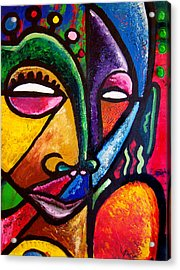 Faces Acrylic Print by Kevin McDowell