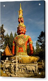Faces Of Buddha Acrylic Print by Adrian Evans