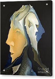 Facets Acrylic Print by Joanna Pregon