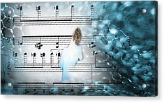 Facing The Music Acrylic Print by Catherine Morgan