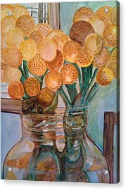 Fade Into Yellow Acrylic Print