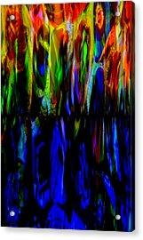 Fade To Blue Acrylic Print by Angelina Vick