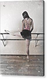 Faded Ballerina Acrylic Print by Scott Sawyer