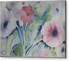 Faded Poppies Acrylic Print