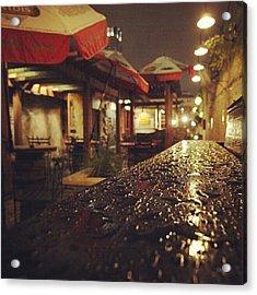 Fado's Patio After A Rain Acrylic Print