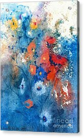 Acrylic Print featuring the painting Faerie Flowers by Joan Hartenstein