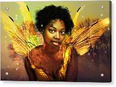 Acrylic Print featuring the digital art Faery Dawn by Nada Meeks