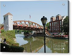 Acrylic Print featuring the photograph Fairport Lift Bridge by William Norton