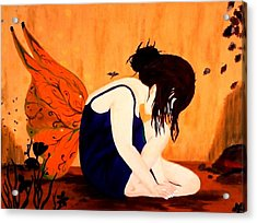 Fairy  Acrylic Print by Nicole Champion