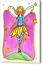Acrylic Print featuring the mixed media Fairy Note by Nada Meeks