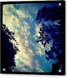 Fake? #clouds #cloudporn #sky #light Acrylic Print