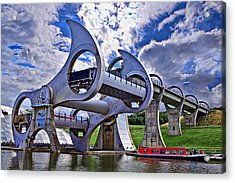 Falkirk Wheel Acrylic Print by Wendy White