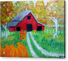 Fall And Pumpkin Harvest Acrylic Print by Donna Jenkins