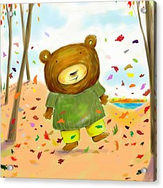 Fall Bear Acrylic Print