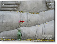 Acrylic Print featuring the photograph Fall Buddha #1 by Nola Lee Kelsey