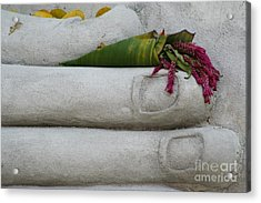 Acrylic Print featuring the photograph Fall Buddha #2 by Nola Lee Kelsey