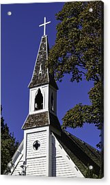 Fall Chapel Acrylic Print by Ken Stanback
