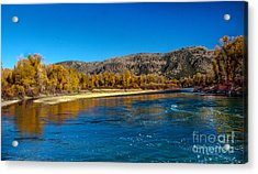 Fall Colors On The Snake River Acrylic Print by Robert Bales