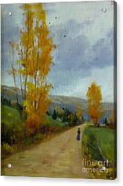 Fall Day Acrylic Print by Victoria  Broyles