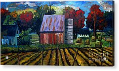 Fall Festival Re-photographed Acrylic Print by Charlie Spear
