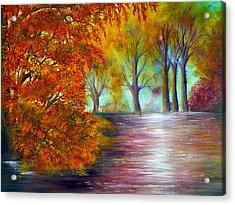 Fall Fire Acrylic Print by Ann Marie Bone