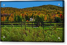 Fall Glory On The Other Side Of The Fence Acrylic Print by Chantal PhotoPix