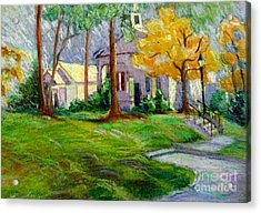 Fall Glow On Roswell Church Acrylic Print by Gretchen Allen