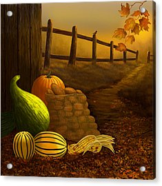 Fall Harvest Acrylic Print by Sena Wilson