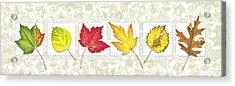 Fall Leaf Panel Acrylic Print