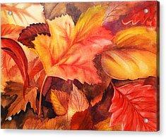 Fall Leaves Acrylic Print by Irina Sztukowski